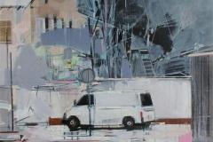 Heinrich Mauersberger, T5, Öl auf Hartfaser, 100 x 70 cm