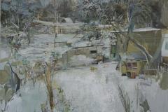 Heinrich Mauersberger, Silvesterglanz, Öl auf Hartfaser, 70 x 80 cm