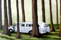 Markus Lange, Off Road, Öl auf Holz, 27x47,5 cm