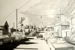 Markus Lange, Streetview, Bleistiftzeichnung, 34x46 cm 2016