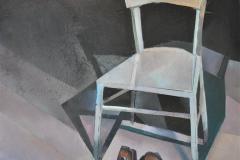 Heinrich Mauersberger, Schwarze Schuhe vor weißem Stuhl