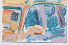 Anton Schön, I am the Driver , 18 x 27 cm, Öl auf Papier, 2019