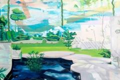Carolin Okon, Extra Muros, Acryl auf Leinwand, 70 x 100, 2016