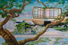 Carolin Okon, Sign of Sommer, Acryl auf Leinwand, 140 x 95, 2016