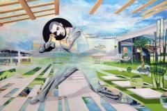 Carolin Okon, Campus der Traeumer, Acryl auf Leinwand, 140x95, 2016galerie4