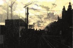 Petra Schuppenhauer, 17 Uhr, Farbholzschnitt hinterleuchtet, 2015