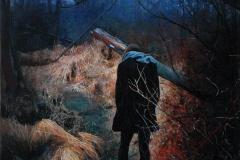 Eugen Kunkel, Moor, Acryl/Holz, 60x40cm, 2014