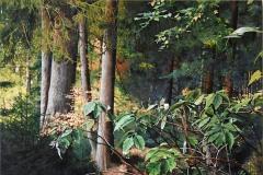 Eugen Kunkel,  Polstertal, Acryl/Holz, 90x60 cm, 2021