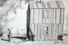 Markus Lange, Ich ziehe aufs Land, Zeichnung, 2016
