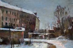 Gert Pötzschig, Mietshäuser im Winter
