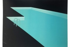 Franziska Neubert, Nachtpool 4, Farbholzschnitt, 100x140 cm, 1400 EUR