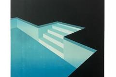 Franziska Neubert, Nachtpool 5, Farbholzschnitt, 100x140 cm, 1400 EUR