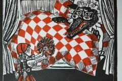 Rotkaeppchen, Holzschnitt, 53x35 cm, 120 Euro unsigniert