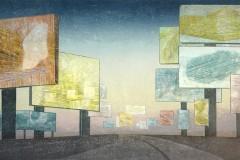 Petra Schuppenhauer, Ringroad, Farbholzschnitt, 97x64 cm, 320 Euro