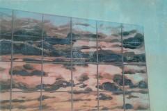 Petra Schuppenhauer, Fasade, Farbholzschnitt, 75x53,5 cm, 2017, 380 Euro