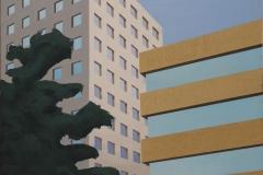 Hendrik Voerkel, Business architecture, Öl auf Leinwand, 2014, 140 x 110 cm