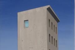 Hendrik Voerkel, Turm, Öl auf Leinwand, 2016, 50 x 40 cm