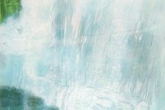 Petra Schuppenhauer, Wasserfall, Mehrfarbiger Holzschnitt, 76 x 52 cm (Blatt), 2017