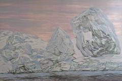Petra Schuppenhauer, Eisberg, Mehrfarbiger Holzschnitt, 100 x 140 cm, 2018