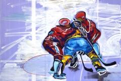 Philipp Gloger, Duell II, Öl und Acryl auf LW, 60x80 cm