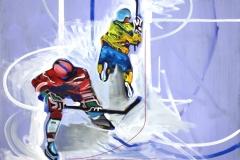 Philipp Gloger, Duell III, Öl und Acryl auf LW, 60x80 cm
