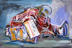 Philipp Gloger, Goalie II, Öl auf Leinwand, 60x90 cm