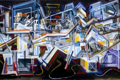 Philipp Gloger, Konstruktion, Acryl auf LW, 90 x 150 cm, 2017