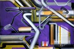 Philipp Gloger, Strecke I, Acryl auf LW, 60x80 cm, 2017