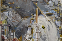 Philipp Gloger, Skigebiet, Materialcollage, 132x87 cm, 2012