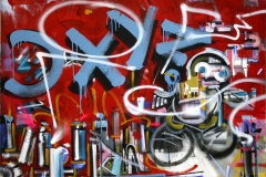 Philipp Gloger, taggen, Acryl auf LW, 120x150 cm, 2017