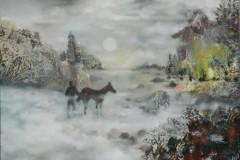 Philipp Orlowski, Nostalghia, Öl auf Leinwand , 100 x 70cm,  2019