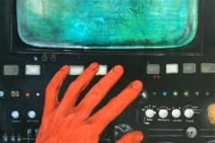 Philipp Orlowski, Red Hand, Öl auf Leinwand , 100 x 80 cm, 2018