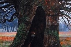 Eugen Kunkel, Alte Eiche II, Acryl auf Holz, 30x20 cm