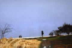 Eugen Kunkel, Am Strand, Acryl auf Leinwand, 80x120 cm
