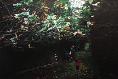 Eugen Kunkel, Die Sammler, Acryl auf Leinwand, 80x120cm