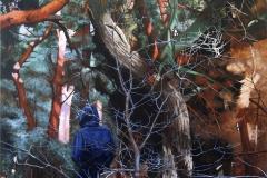 Eugen Kunkel, Drachenwald II, Acryl auf Leinwand, 180x120cm