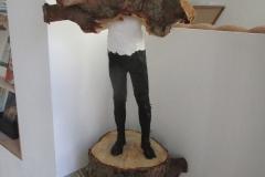 Edvardas Racevicius, Tanne, Farbe, 100x40x40 cm