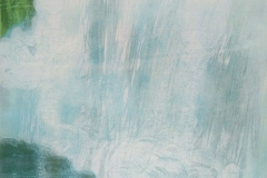 Petra Schuppenhauer, Wasserfall, mehrfarbiger Holzschnitt, 2017