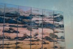 Petra Schuppenhauer, Fassade, Mehrfarbiger Holzschnitt, verlorene Form 80x60 cm, 2017