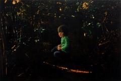 Eugen Kunkel, Adam, Acryl / Holz, 40x60 cm, 2017