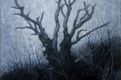 Eugen Kunkel, Baum III, Acryl/Holz, 30x20 cm, 2015