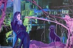 Toni Minge, The Hunt, mixed media, 150x130 cm, 2021