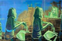 Toni Minge, Emotional Hygiene, mixed media, 70x130 cm, 2021