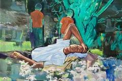 Toni Minge, Romantic Disappointment, mixed media, 200x130 cm, 2021