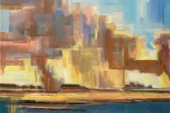 Toni Minge, flächenbrand, Öl auf Leinwand, 150x90cm, 2021