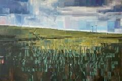 Toni Minge, am_feld_01, Öl auf Leinwand, 130 x 200 cm, 2020