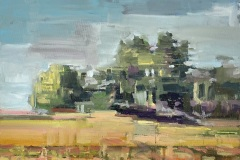 Toni Minge, am_feld_02, Öl auf Leinwand, 40 x 30 cm, 2020