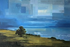 Toni Minge, am_meer_01, Öl auf Leinwand, 105 x 150 cm , 2020