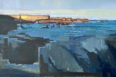 Toni Minge, am_meer_02, Öl auf Leinwand, 60 x 140 cm, 2020