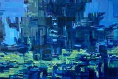 Toni Minge, am_pool_01, Öl auf Leinwand, 200 x 140 cm, 2020
